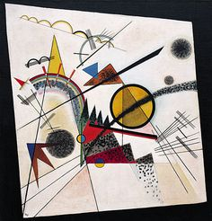 Painting by Vasily Kandinsky, when teaching at the school. Guggenheim Museum - Past Exhibitions - Klee and Kandinsky: The Bauhaus Years Wassily Kandinsky, Abstract Words, Abstract Art, Guggenheim Bilbao, Popular Paintings, Square Canvas, Black Square, Framed Art Prints, Oil On Canvas