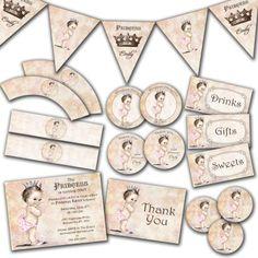 Vintage baby shower invitation for girl princess by jjmcbean 2300 princess birthday invitation for girl princess party by jjmcbean 2000 filmwisefo