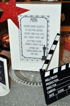 red carpet theme tabletop menus - Google Search