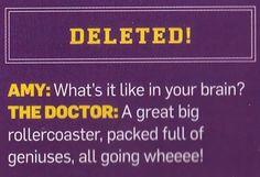 Inside The Doctor's brain.
