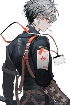 Anime Demon Boy, Anime W, Dark Anime Guys, Cool Anime Guys, Chica Anime Manga, Cute Anime Boy, Anime Kawaii, Anime Art Girl, Animes Emo