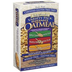 Glutenfreeda Instant Oatmeal in the GF Goody Bag for winner of the GFL reader survey!  http://3301246.polldaddy.com/s/win-free-gluten-free-products