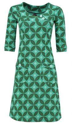 mod retro 60s 70s fashion Orla Kiely Green DressTwiggy Betsy at Solvejg.nl