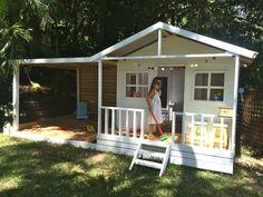 Cubby house ideas kids outdoor play, backyard for kids, Backyard House, Backyard Playhouse, Build A Playhouse, Backyard For Kids, Kids Playhouse Plans, Pallet Playhouse, Backyard Ideas, Kids Cubby Houses, Kids Cubbies