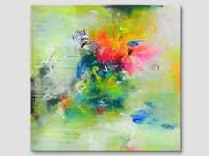 Original extra large abstract square painting XL modern fine