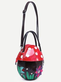TC5 Multicolored Elegant Mushroom Bag