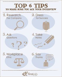 When the time comes for a job or internship interview, be prepared with these helpful hints.