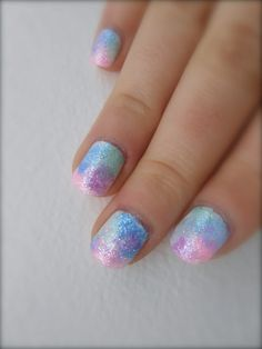 Pastel fairy nails