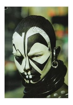 tribal face paint. Possible designs for the balaclava