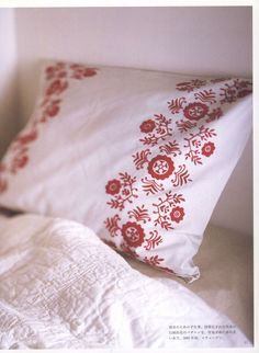 hand embroidery pillowcase pattern by LibraryPatterns
