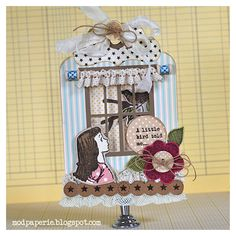 Thienly did an awesome job welding two tags from TAGS GALORE and also used TOWNHOUSE WINDOWS SVG MINI PACK to make this wonderful card.