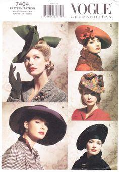 Vogue 7464 - Vintage Hats