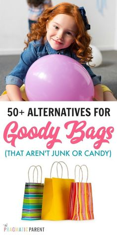 Alternatives for Goody Bags: No Candy or Junk - 50 Alternatives for goody bags that aren't candy, plastic toys or junk. Alternatives for kid's birthday party goody bags that won't get tossed in the trash. Source by PragmaticParent Goodie Bags For Kids, Kids Bags, Kid Party Favors, Party Bags, Party Snacks, Wedding Favors, Diy Wedding, Activities For Kids, Crafts For Kids
