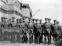 General John Pershing and Staff Aboard U.S.S. Leviathan.Pershing is fourth from the Left.