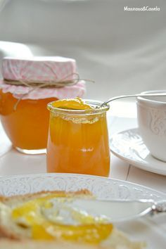 inspiration for hazelnuta and saffron linzer cookies filled with spiced passion jelly Mango Recipes, Jam Recipes, Canning Recipes, Kitchen Recipes, Sweet Recipes, Healthy Recipes, Chutney, Homemade Jelly, Homemade Sweets