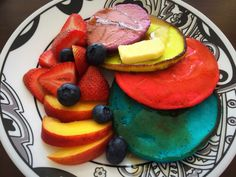 Today, I wanted to start my day with something special, colorful & sweet to evoke positive thoughts and happy vibes. These are Neon Buttermilk Pancakes with fresh fruits and rose mimosa :) &nbs…