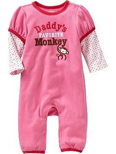 """""""Daddy's Favorite Monkey"""" One-Pieces for Baby 