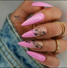 Hot Nails, Swag Nails, Pink Nails, Pointed Nails, Stiletto Nails, Stylish Nails, Trendy Nails, Girls Nails, Best Acrylic Nails