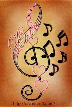 Znalezione obrazy dla zapytania tattoo designs for women music education