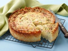 Deep-Dish Hash Brown Ham and Cheese Quiche