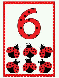 Preschool Centers, Preschool Math, Kindergarten Classroom, Math Activities, Number Flashcards, Flashcards For Kids, Teaching Numbers, Math Numbers, Baby Ladybug