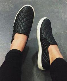 Black Slip-On Fashion Sneakers #comfortFashion