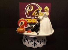 WASHINGTON REDSKINS Football Wedding Cake Topper by mikeg1968, $69.99 Redskins Cake, Redskins Football, Wedding Cake Toppers, Wedding Cakes, Football Wedding, Washington Redskins, Wedding Ideas, Sports, Wedding Gown Cakes
