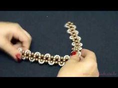 20 - Sr. Chinelo - Como fazer um entrelaçado de pérolas 8mm e 4mm - YouTube