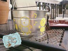 Metal Easter Bucket craft DIY
