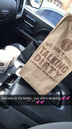 Lunch delivery to my baby and her best friend cuz she deserves that and more... 😍😍😘😘💕💕🖤🖤💕💕 #quinn