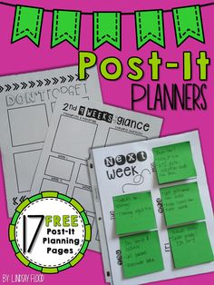 Free Post-it Planning pages to keep you organized!