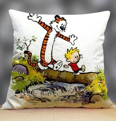 "Calvin And Hobbes Pillow Case 18"" x 18"""
