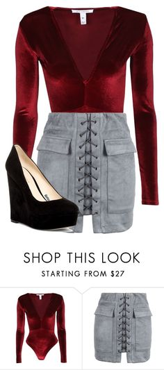 """""""Untitled #334"""" by sarcastic-unicorn-13 on Polyvore featuring NLY Trend, WithChic and Nine West"""