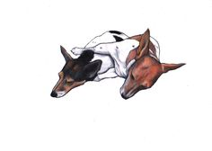 Two lovely Jack Russell's relaxing together https://www.etsy.com/listing/252981258/jack-russell-art-custom-drawing?ref=shop_home_active_4