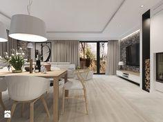 Duży salon z jadalnią, styl vintage - zdjęcie od Agata Hann Architektura Wnętrz