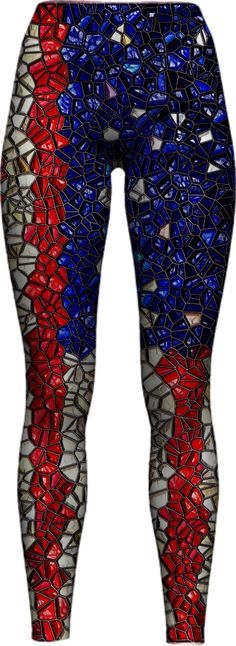 american-flag-mosaic-1 WOMEN LEGGING PAOM-VFS by 255455805