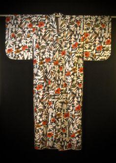 Vintage Mid Century Modern Japanese Meisen Silk by tokyomodern