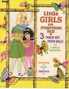 Vintage Uncut Lil Girls R Everything Paper Doll HD Laser Reproduction Lo Price | eBay