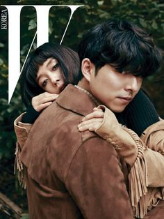 """Gong Yoo and Jeon Do Yeon starred in """"Un Homme Et Une Femme"""" for the November issue of W Korea. The photoshoot was named after the duo's upcoming film, which is about two people who pursue a forbidden love in Finland. Fashion Editorial Couple, Fashion Couple, W Korea, Vogue Korea, South Korea, Gong Yoo, Hot Couples, Celebrity Couples, Couple Posing"""