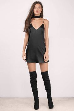 For you satin shift dress . fashion inspiration in Satin Cami Dress, Satin Dresses, Black Satin Dress, Dress Outfits, Cute Outfits, Fashion Outfits, Womens Fashion, Fashion Fashion, Mode Grunge