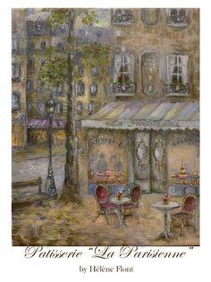 """Paris Painting -  Patisserie """"La Parisienne """"  by Hélène Flont"""