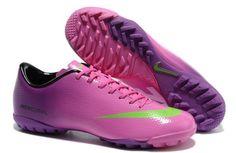 Nike Mercurial Vapor IX TF Mens Astro Turf Soccer Shoes(Pink Purple White  Volt) 6403573fc5f6b