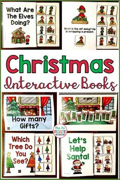 Keep students engaged and focused with these Christmas Interactive books!! They are perfect for targeting labeling, actions, matching, making sets, sequencing and color identification. My students with autism absolutely LOVE these books and how many turns they get.