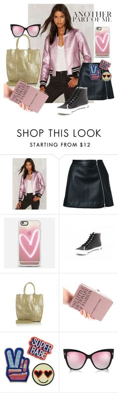 """""""My fav bomber Jacket - Another Part of Me"""" by look-shop ❤ liked on Polyvore featuring Nasty Gal, Guild Prime, Casetify, Giorgio Armani and Any Old Iron"""