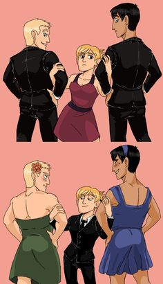 i'm too lazy i just don't even care anymore. #snk #aot Reiner Braun, Bettholdt Hoover, and Annie Leonhardt