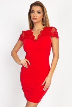 Princess Seam, Lace Design, Dress Backs, Spandex, Floral Lace, Red Lace, Dresses For Sale, Mini Dresses, Bandage Dresses