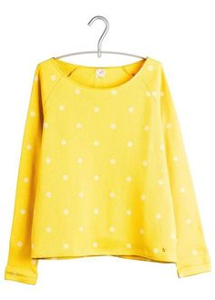 Sweat à pois JAUN by DES PETITS HAUTS Style Couture, Couture Fashion, Tartan, Tweed, Pull, Baby Dress, Winter Fashion, Polka Dots, Vanities