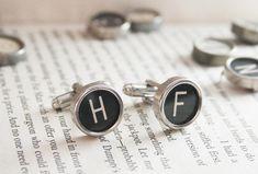 Typewriter key Cufflinks Custom made by KfiatekGiftedHands on Etsy, £24.50