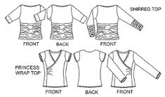 Image result for christine jonson patterns shirred top and princess wrap