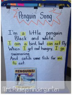 Mrs. Pauley's Kindergarten: Penguins Song
